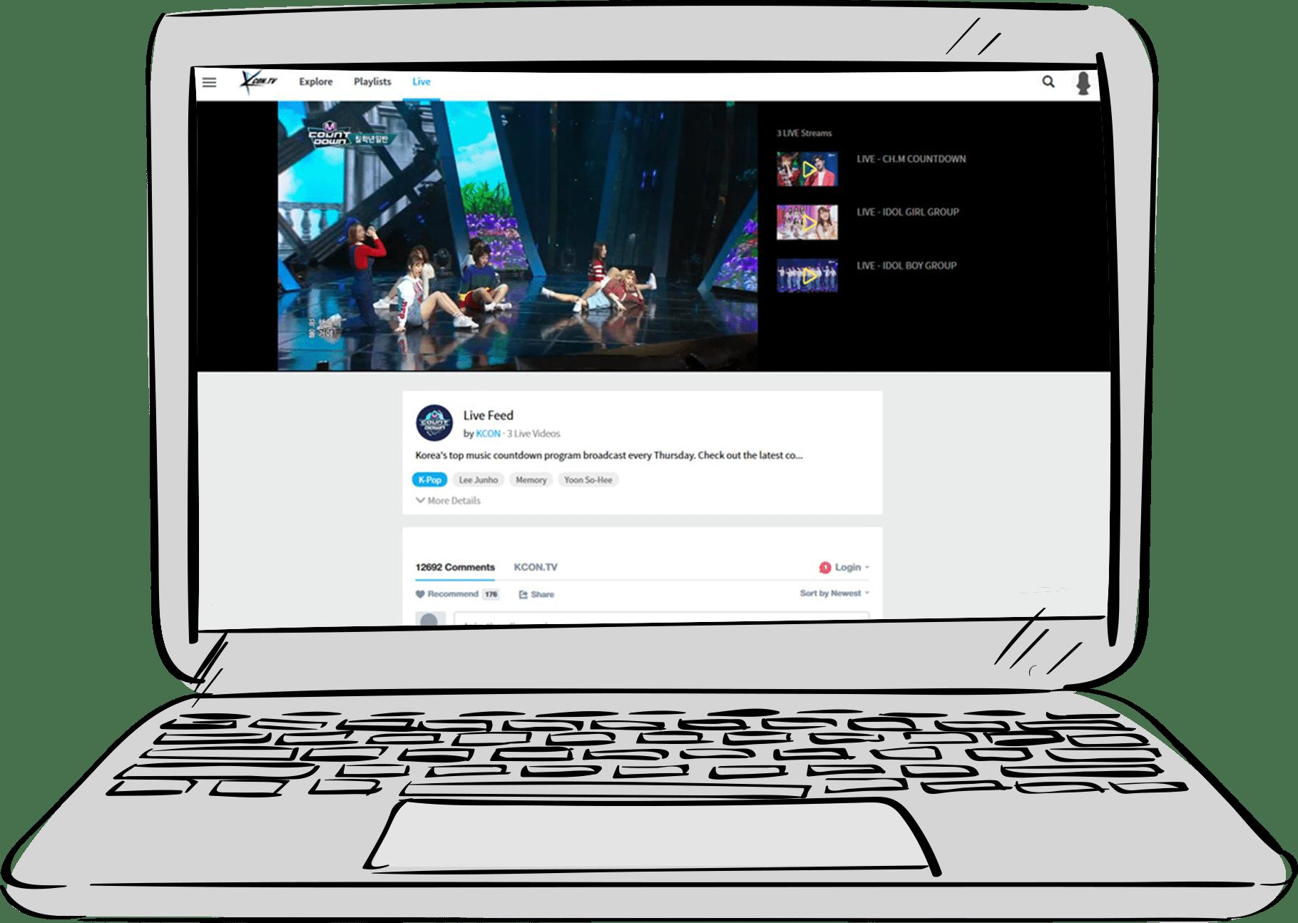 KCON Website Design and Development