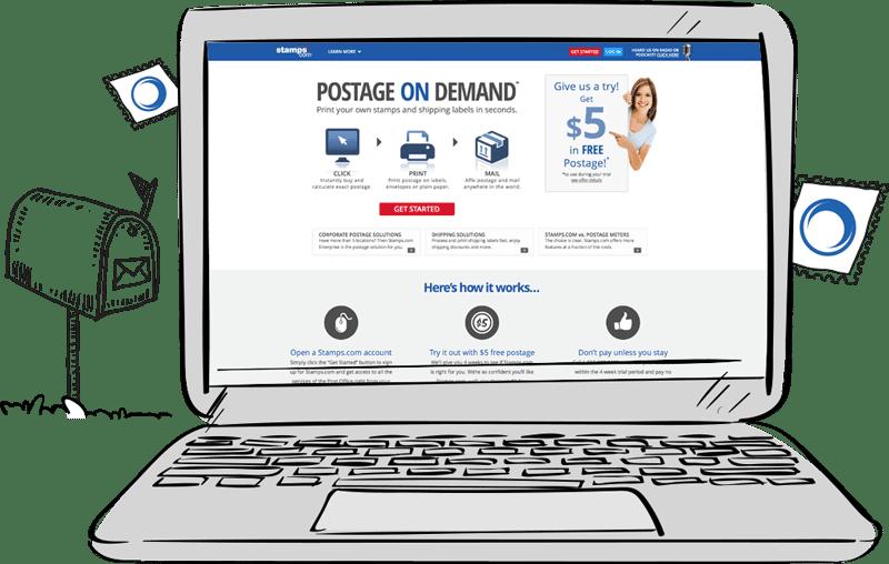 Stamps.com Website Design